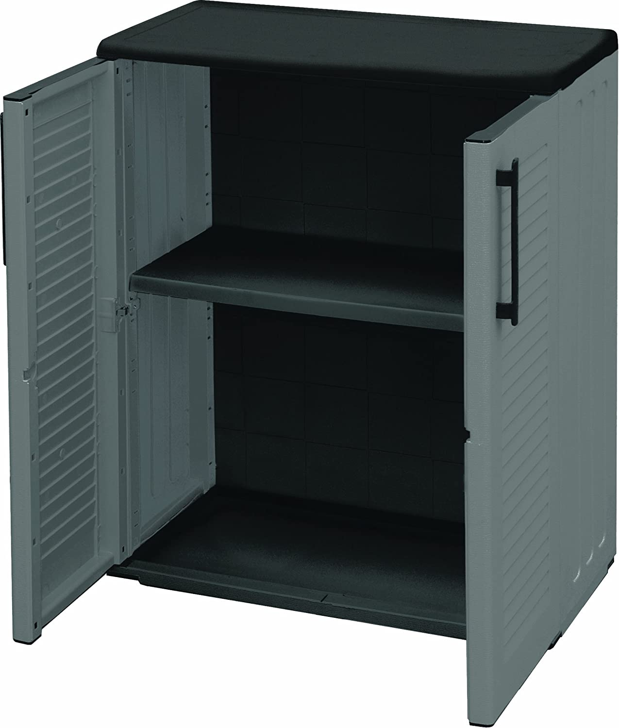 Art Plast E71 – / B Plastic Cabinet, Low, Economic, Grey, Colour: Grey (Low)