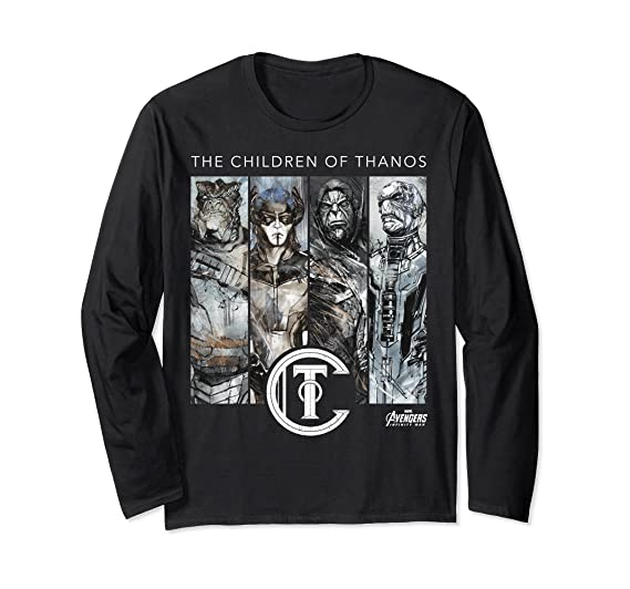 d61638d0e65 Amazon.com  Marvel Infinity War Children of Thanos Long Sleeve Tee  Clothing