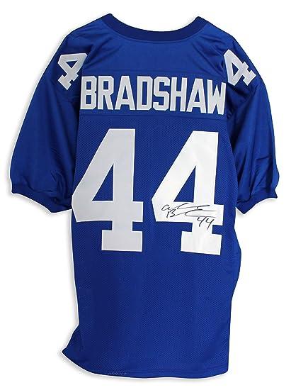 Cheap Ahmad Bradshaw New York Giants Autographed Blue Jersey APE COA at  for cheap