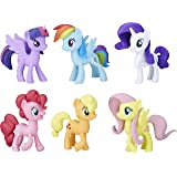 "My LITTLE PONY Meet the Mane 3"" 6 Ponies Collection - Twilight Sparkle, Pinkie Pie, Rainbow Dash, Rarity, Fluttershy…"