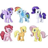 "My LITTLE PONY Meet the Mane 3"" 6 Ponies Collection - Twilight Sparkle, Pinkie Pie, Rainbow Dash, Rarity, Fluttershy, Applejack - Kids Toys - Ages 3+"