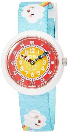 Flik Flak Reloj Analógico para Niñas de Cuarzo con Correa en Tela FBNP115: Amazon.es: Relojes