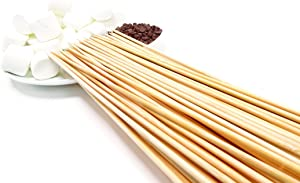Bamboo Marshmallow Smores Roasting Sticks 30 Inch 5mm Thick Extra Long Heavy Duty Wooden Skewers, 100 Pieces. Perfect for Hot Dog Kebab Sausage Veggies 100% Biodegradable. Great Campfire Accessories