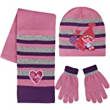 Trolls 2200002446 Poppy Children s Winter Set Includes Beanie Hat Gloves  and Scarf 5d034fcf8fa8