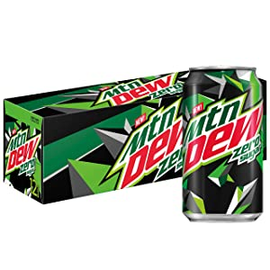 Mtn Dew Zero Sugar, 12 fl oz. Cans (12 Pack)