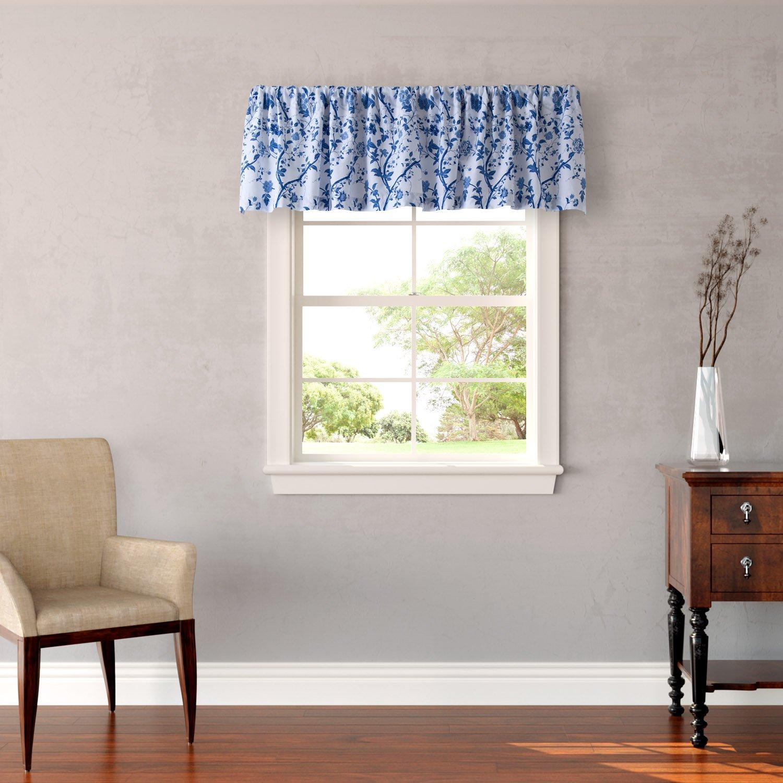 Laura Ashley 211384 Charlotte Window Valance, 15 x 86, Blue