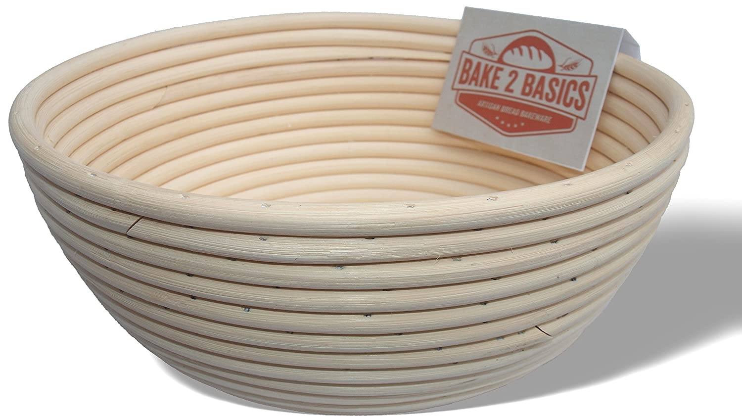 Banneton Bread Proofing Basket - (Brotform) - Bake Beautiful Artisan Bread In This 9 Inch Rattan Basket Bake2Basics SYNCHKG101052