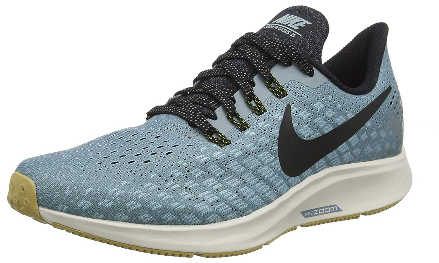 detailed look 19dad 58ba1 Nike Men's Air Zoom Pegasus 35 Aviator Grey/Black-Blue Fury 12.5