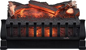 Duraflame DFI021ARU Electric Log Set Heater with Realistic Ember Bed, Black