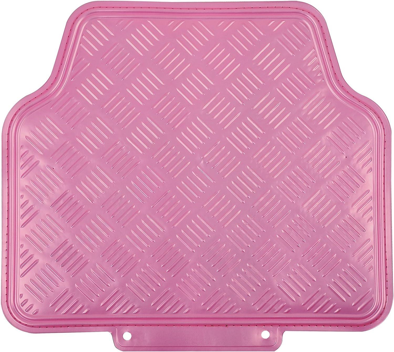 Antiparaslizantes 4 Piezas Pink AM7161 WOLTU Juego Alfombrillas para Coche Universales PVC Alfombra para Moqueta para Veh/ículo