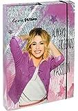Undercover VIAE0940 - Heftbox A4 Disney Violetta, Rückenbreite 4 cm, grau