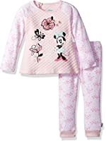 Disney Baby Girls' Minnie Mouse 2 Piece Quilted Top and Legging Set