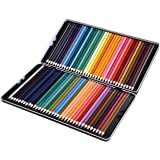 Colouring pencils Set, LiSmile 72 Colouring Pencils Artists Colouring Pencils for Children Adults, Non-toxic Oil Based Colouring, Sturdy Tin Package, for Coloring Books Drawing Writing Sketching Doodling, Assorted Colors