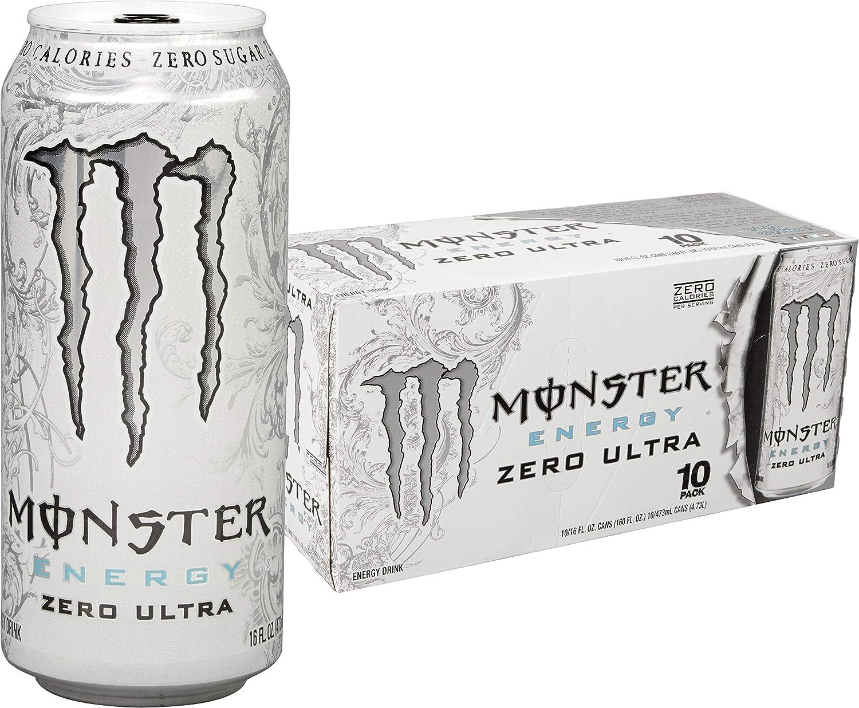 Monster Energy, Zero Ultra, 16 fl oz (pack of 10)