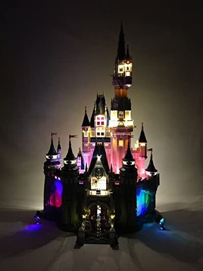 lego lighting. Disney Castle Lighting Kit For YOUR Set 71040 By Brick Loot - LEGO SET NOT INCLUDED Lego B