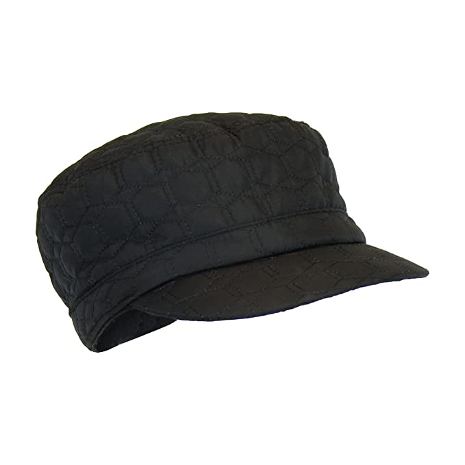 Black Quilted Military Style Winter Rain Hat c8d794f3001