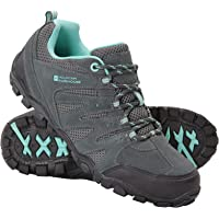 Mountain Warehouse Sherwood Womens Hiking Shoes - Suede & Mesh Upper, Mesh Lined Trainers - for Walking