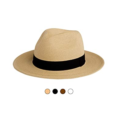 bad985a67fc PINEAPPLE STAR HAT Sun Straw Hat Fedora Hat Fine Braid Straw with UPF 50+  Removable Chin