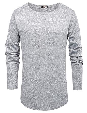 12bdd98f Paul Jones PJ Men's Soft Henley Shirt Men T-Shirt Tops Working Out Shirt  Light