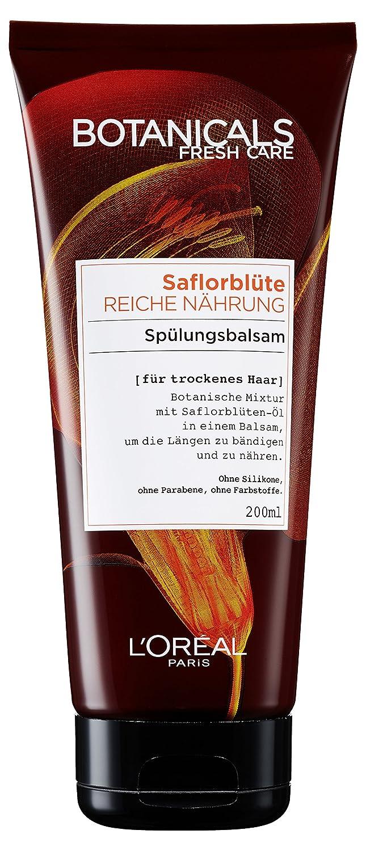 Botanicals Haarspülung Fresh Care Saflorblüte Reiche Nährung, Spülungsbalsam für trockenes Haar, Haarpflege ohne Silikon, 1er Pack (1 x 200 ml) A90379