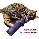 """15"""" Giant Catnip Kitty Kicker Toy W/Refillable Catnip Pocket / Kicker Filled with 1.25oz. Premium Canadian Catnip"""