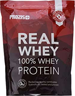 Prozis 100% Pure Real Whey Protein Powder - Suplemento de Chocolate Negro Enriquecido con BCAAs