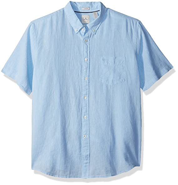 0cbbea62d07 Dockers Men s Long Sleeve Linen Button Front Woven Shirt at Amazon Men s  Clothing store