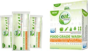 EATCLEANER 10-CT. Food Grade Wash Powder Packets, Perfect for Bulk Fruit and Vegetable Washing