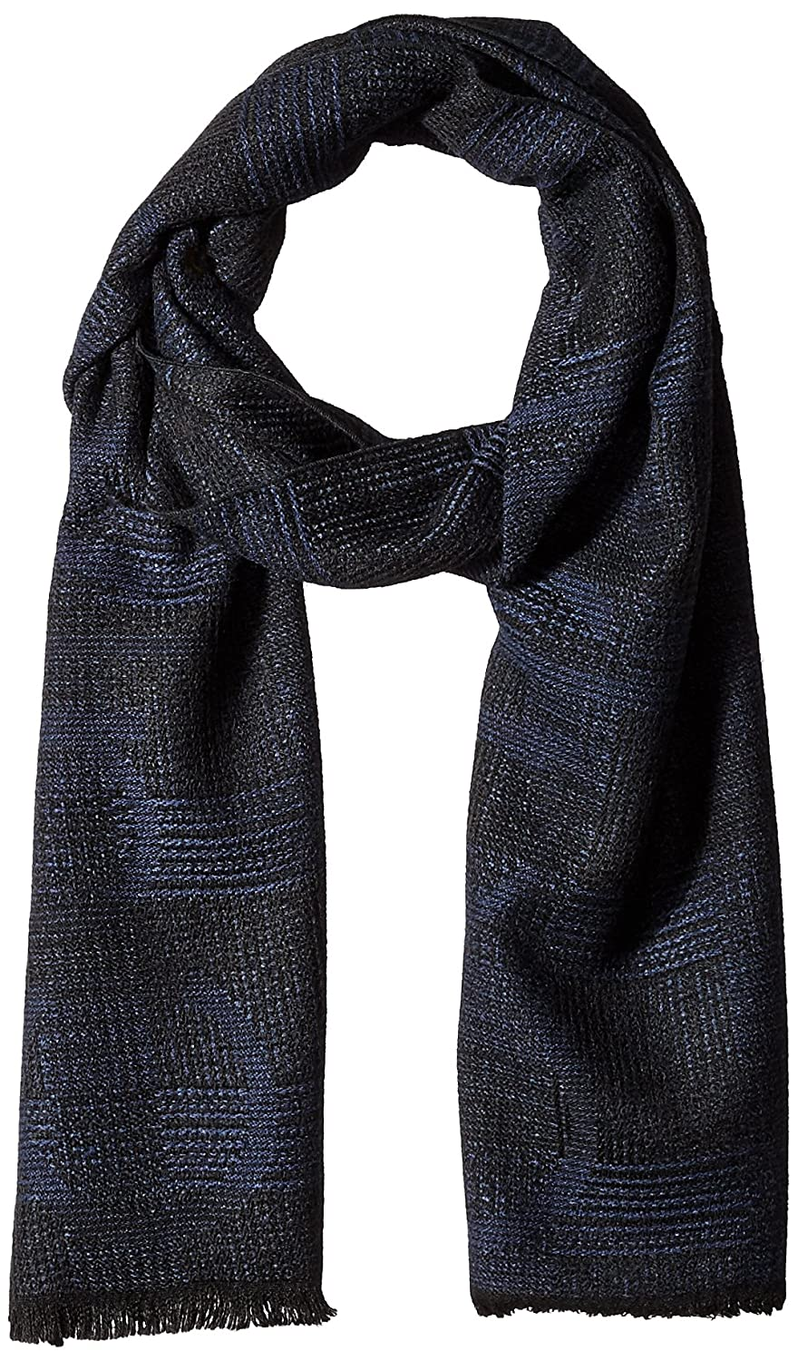 Calvin Klein Men's Bi Color Logo Scarf Black One Size Calvin Klein Neckties HKC73628