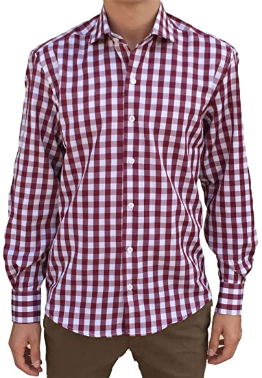 bordeaux Canotti Vito 92g Homme Small Rouge Chemise 3053 Shirt H77SqF