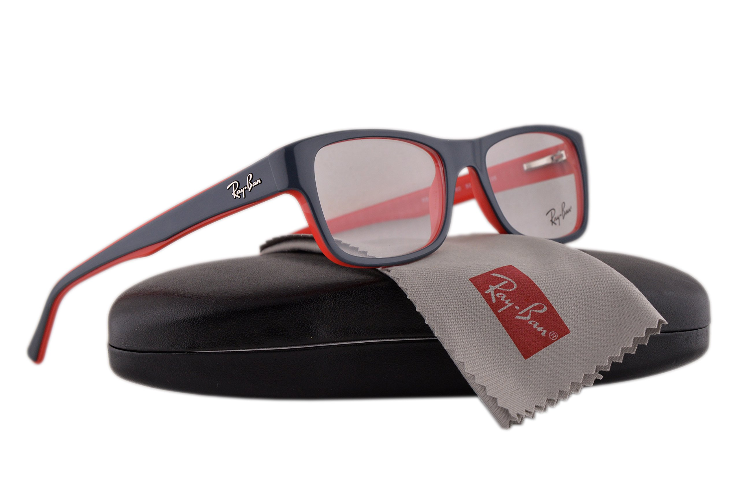 Ray Ban RX5268 Eyeglasses 48-17-135 Top Grey On Red w/Demo Clear Lens 5180 RB5268 RB 5268 RX 5268