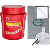 Connoisseurs Jewelry Cleaner For Gold Diamond Platinum & Precious Stones with Cleaning Basket Brush and Polishing Cloth
