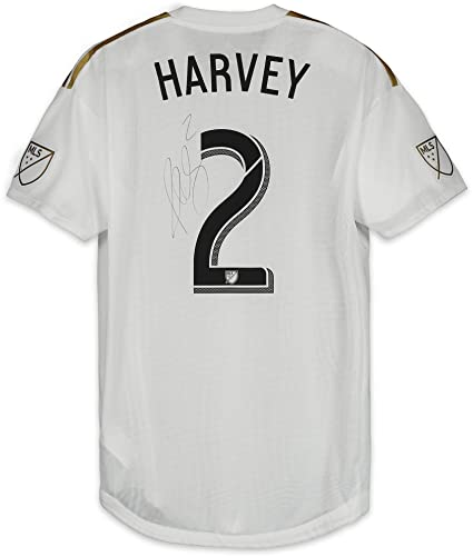 info for 8e6be 386c4 Jordan Harvey LAFC Autographed Match-Used White #2 Jersey vs ...