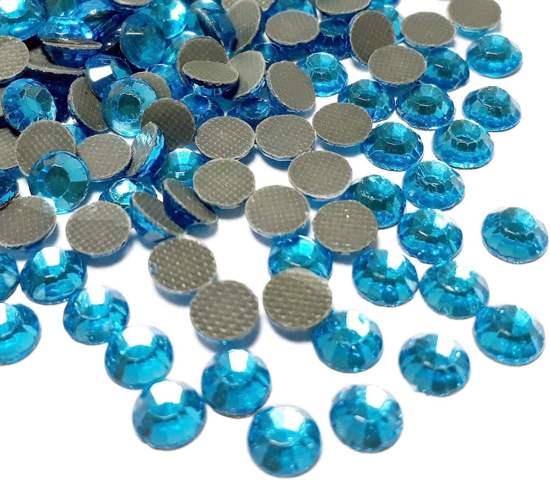 Perlin Hotfix 487 - Piedras de estrás, 3 mm, SS10, 7200 Unidades, Color Azul Aguamarina, Calidad AAA, para Planchar, Piedras Brillantes, Piedras Brillantes