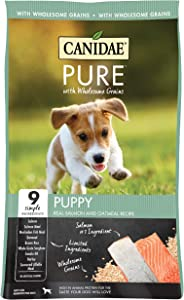 Canidae Pure with Wholesome Grains, Limited Ingredient Dry Puppy Food, Salmon and Oatmeal, 24lbs