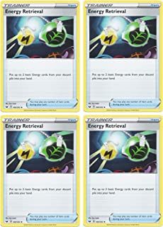 product image for Pokemon Card - Energy Retrieval - Sword and Shield Base - x4 Card Lot Playset - 160/202 Uncommon