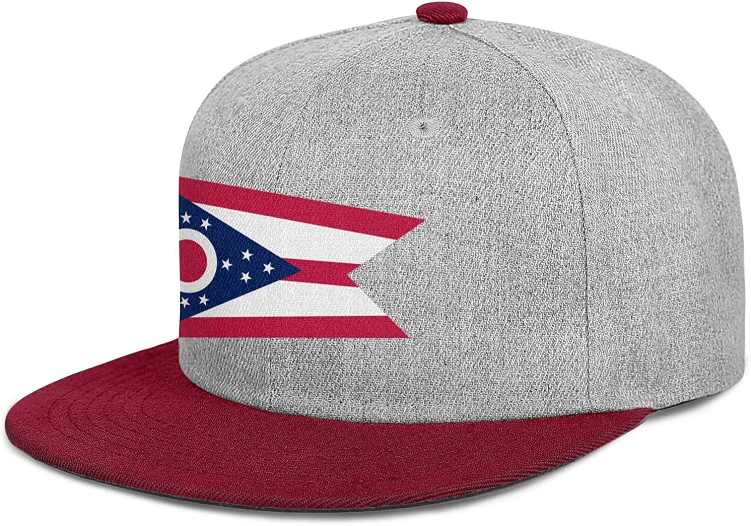 FYFYOK Mens Womens Dad Hats Ohio State Flag Snapback One Size Cap