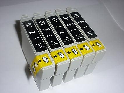 5 x cartuchos de tinta negra para impresoras Epson stylus SX420W ...