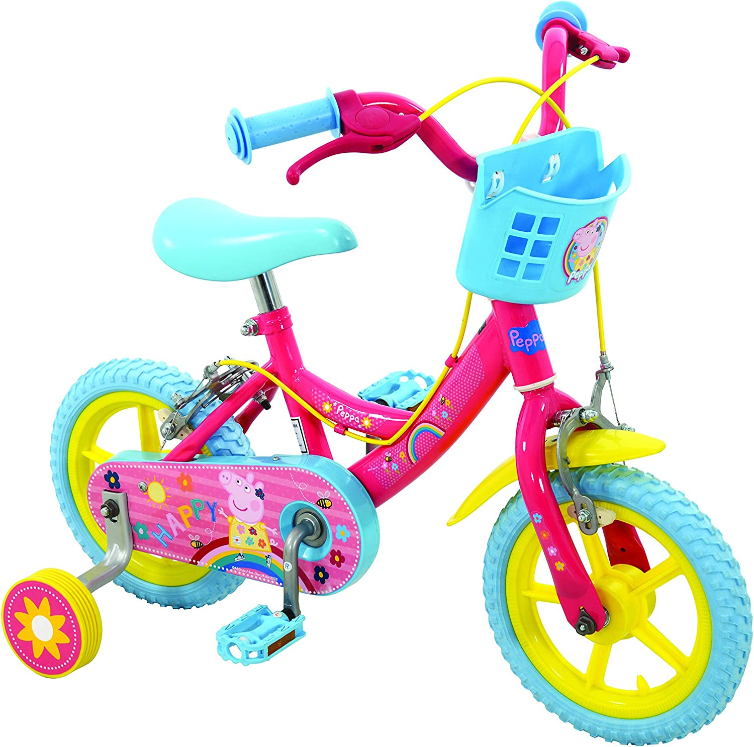 Official Peppa Pig Childrens Kids 12 Bicycle Stabilisers Puncture ...