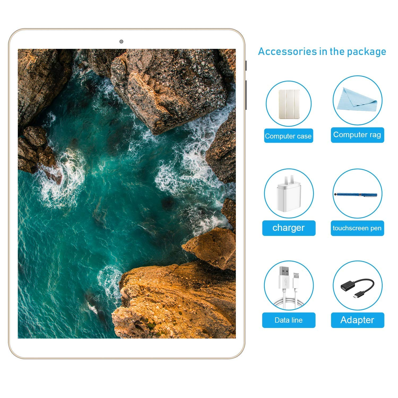 Tablette Tactile 10.1 Pouces Tablette PC Android 7.0 avec Double Slot pour Carte SIM, 3G, Octa Core(Eight), 3 Go de RAM + 32 Go de ROM, Double camé ra inté gré e, Bluetooth 4.0, Wi-FI et GPS Double caméra intégrée HYD V805