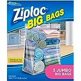 Ziploc Big Bag Double Zipper Jumbo Big Bags, 3 Count