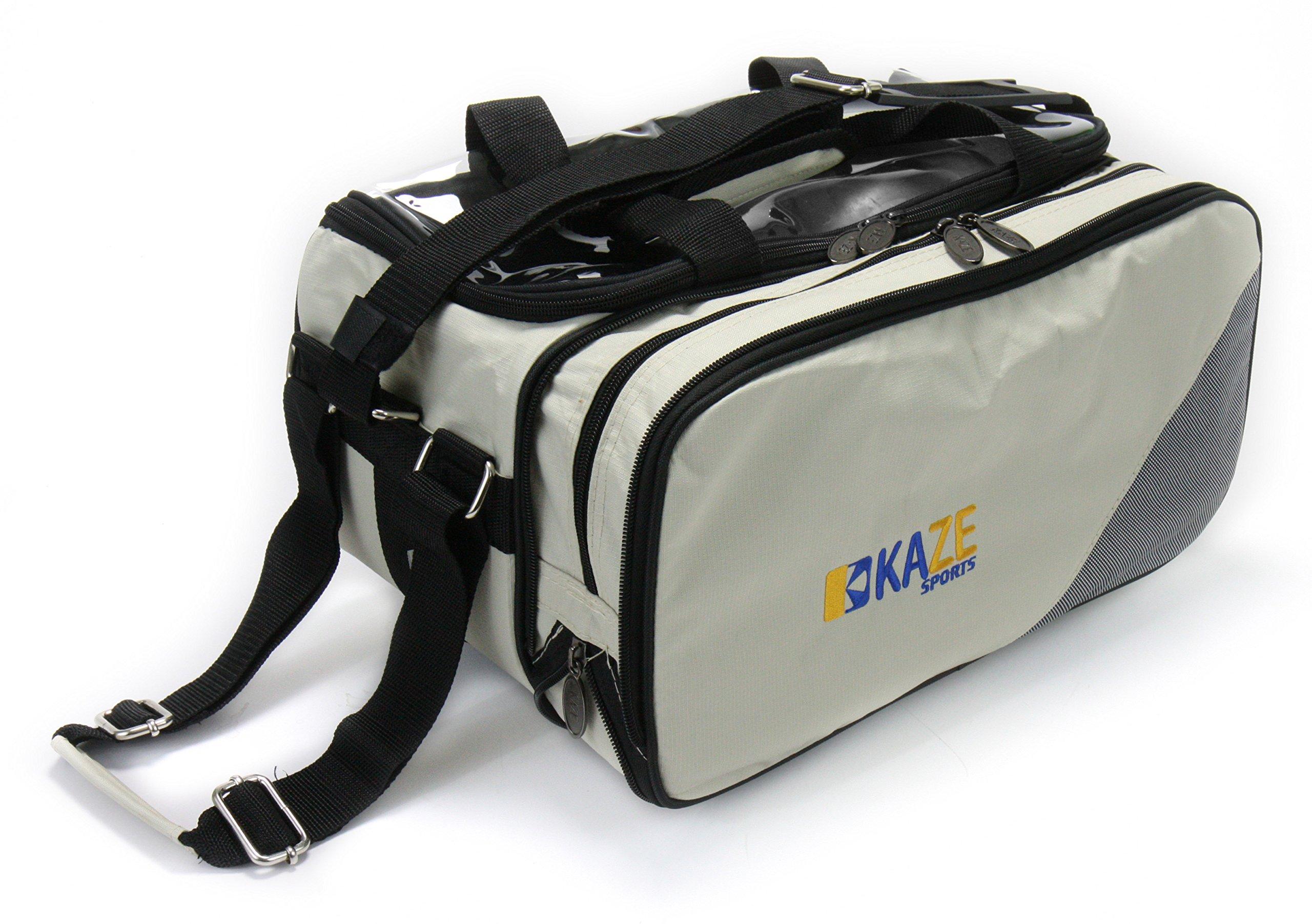 KAZE SPORTS 2 Ball Compact Bowling Roller, Gray/Beige