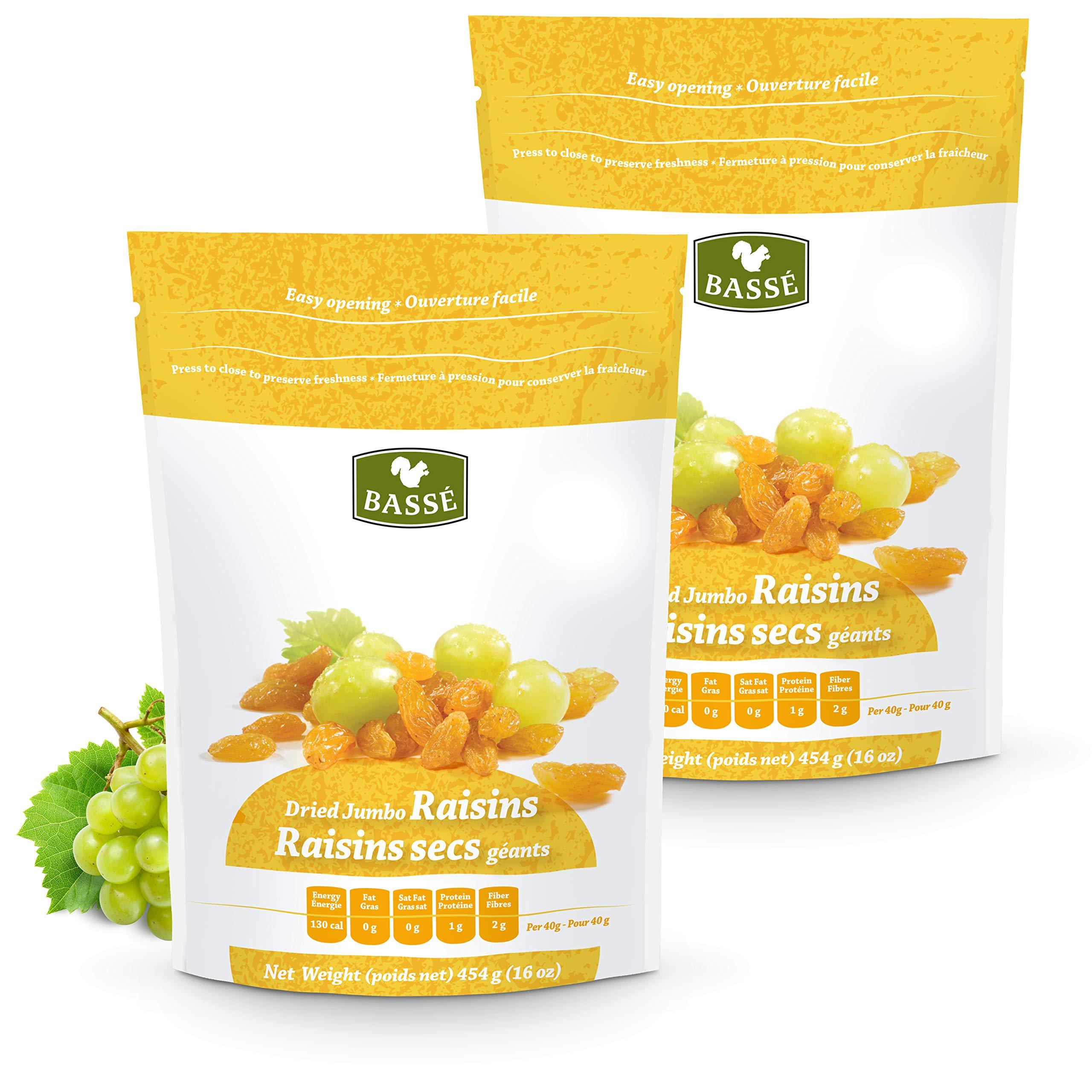 Golden Raisins, Dried Jumbo Golden Raisins from Basse Dried Fruits (2 Pounds)