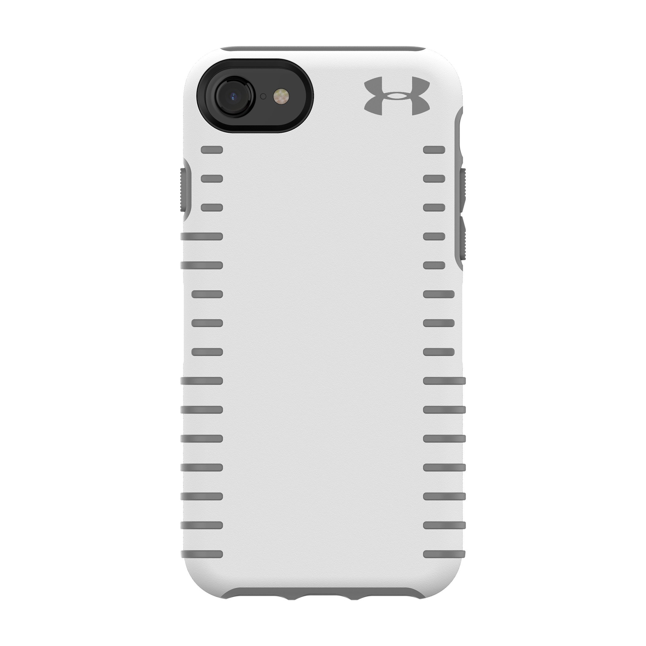 Under Armour UA Protect Grip Case for iPhone 8, iPhone 7 & iPhone 6/6s - White/Graphite