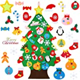 TOBEHIGHER Felt Christmas Tree - 3.12 FT 3D DIY Set for Kids with 30 Pieces of Ornament Decor, Wall Hanging Christmas…
