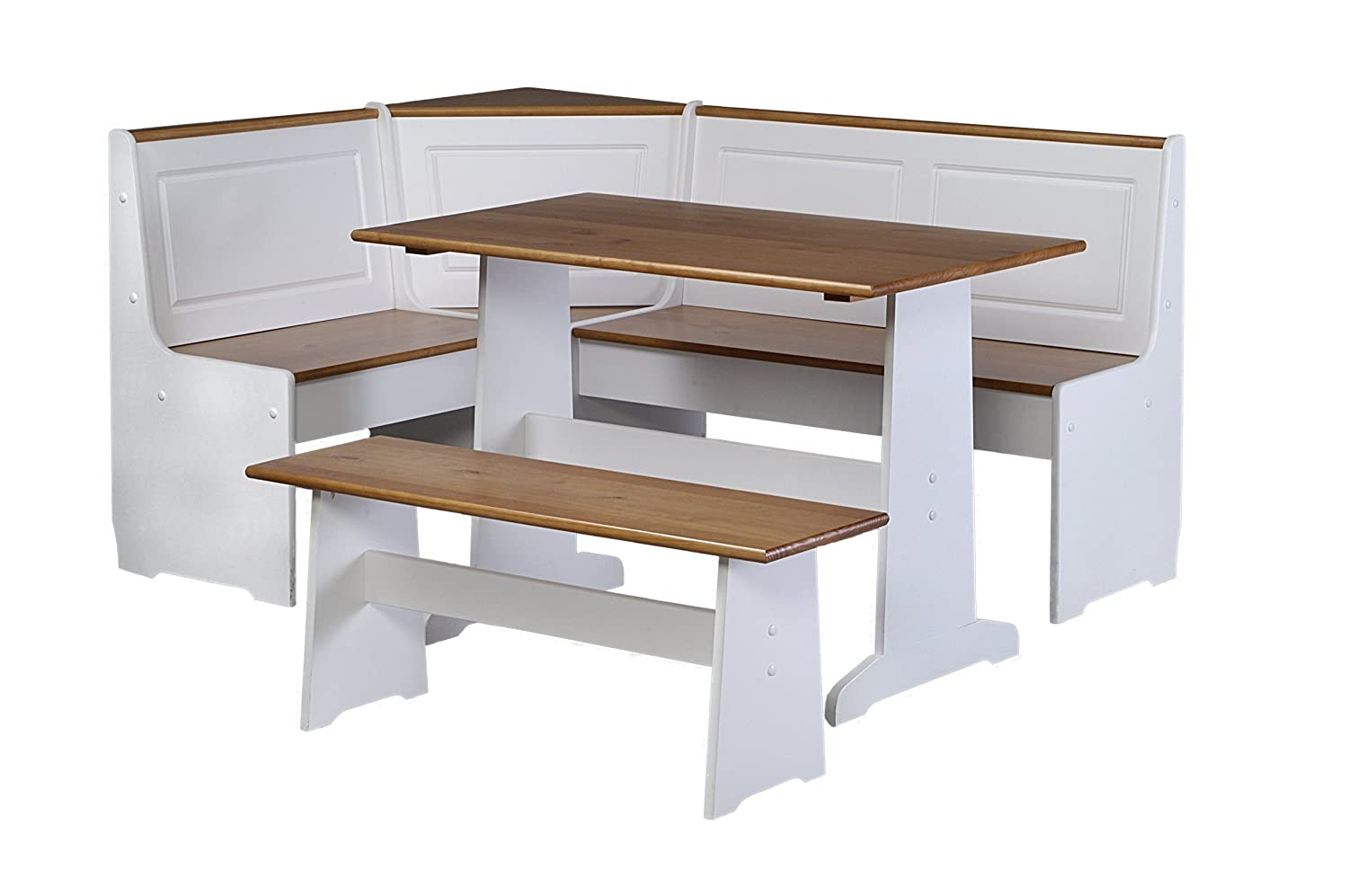 Kitchen Corner Table Set Amazon linon ardmore kitchen nook set kitchen dining workwithnaturefo