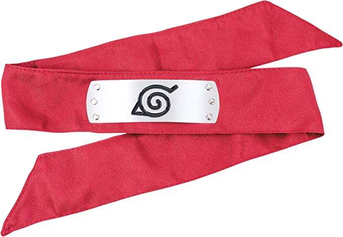 DAZCOS Japanese Anime for Red Leaf Village Headband Red