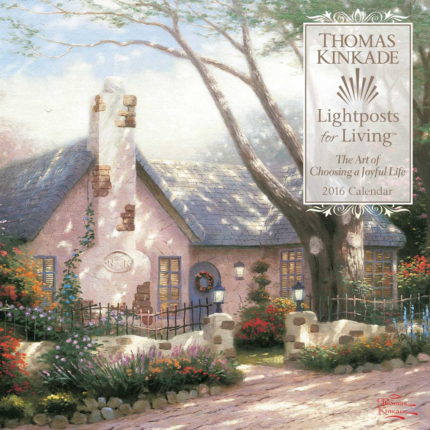 thomas kinkade lightposts for living 2015 wall calendar