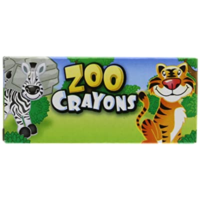 12 Boxes of Crayons Zoo Animal Box 4 Per Box: Toys & Games