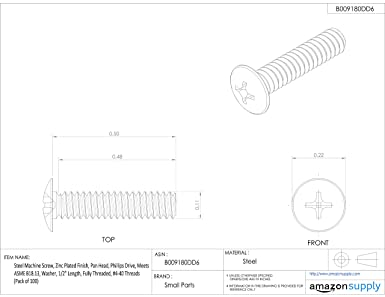 Pack of 5 2 Length Plain Finish Phillips Drive Fully Threaded 3//8-16 UNC Threads Pack of 5 Meets ASME B18.6.3 Pan Head 18-8 Stainless Steel Machine Screw 2 Length 3//8-16 UNC Threads Small Parts PPMSSS3//8C2-P5